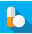 Medical Pills Flat Icon vector image