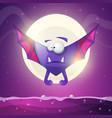 bat vampire - cartoon horror characters vector image