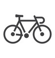 bicycle glyph icon transport and vehicle bike vector image