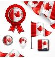 Canadian national symbols vector image
