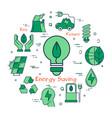 green eco energy saving bulb vector image
