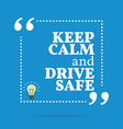 Inspirational motivational quote Keep calm and vector image