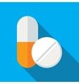 Medical Pills Flat Icon vector image