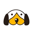 Puppy head vector image