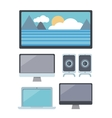 Set of Computer and Multimedia Devices vector image