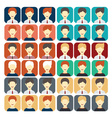 set of flat design icons businessman vector image
