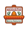Mexican restaurant icon or emblem vector image