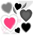grunge hearts vector image