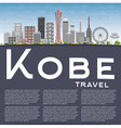 Kobe Skyline with Gray Buildings Blue Sky vector image