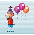 happy children on party design vector image