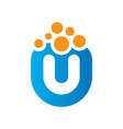 abstract u bubble logo vector image