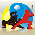 Asian Fighters vector image