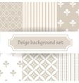 beige background set vector image