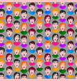 extremely surprised scared frightened young people vector image