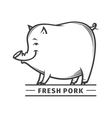 fresh pork vector image