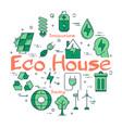 green eco house concept vector image