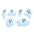 halloween ghost set vector image