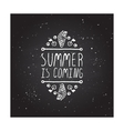 Hand-sketched typographic element with flippers vector image