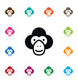 isolated chimp icon capuchin element can vector image