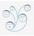 Web design bubbles vector image