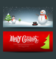 Merry Christmas banner design background set vector image vector image