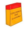 Columbus Day calendar 12 october icon vector image