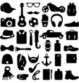 set of fashion accessories and vector image