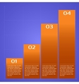 Infographic chart vector image vector image