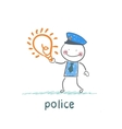 Police keeps the idea of vector image