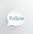 Follow vector image vector image
