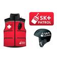 ski patrol style vector image vector image