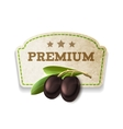 Olive kitchen badge vector image