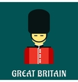 Queen guard soldier flat icon vector image