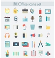 Modern flat design color office icons Web vector image