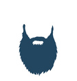 Beard isolated on white background vector image