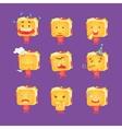 Sandwich Character Set vector image