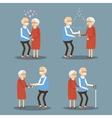 Set of Seniors People vector image