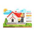 construction of private house in section vector image