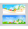 Easter design template vector image