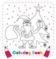 funny Santa Claus Christmas Character coloring vector image