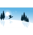 Merry Christmas winter the ski landscape vector image