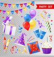 party transparent set vector image
