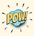 pow comic word vector image
