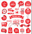 super sale badges and labels collection vector image