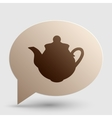 Tea maker sign Brown gradient icon on bubble with vector image