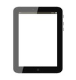Black tablet pc vector image