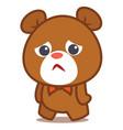 sad bear character vector image