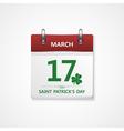 patrick day calendar vector image