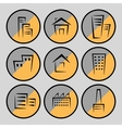 Pictures of houses and buildings vector image vector image