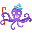isolated octopus vector image